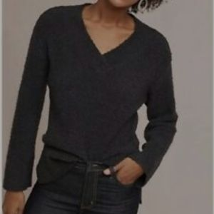 Anthropologie wool blend nubby knit sweater